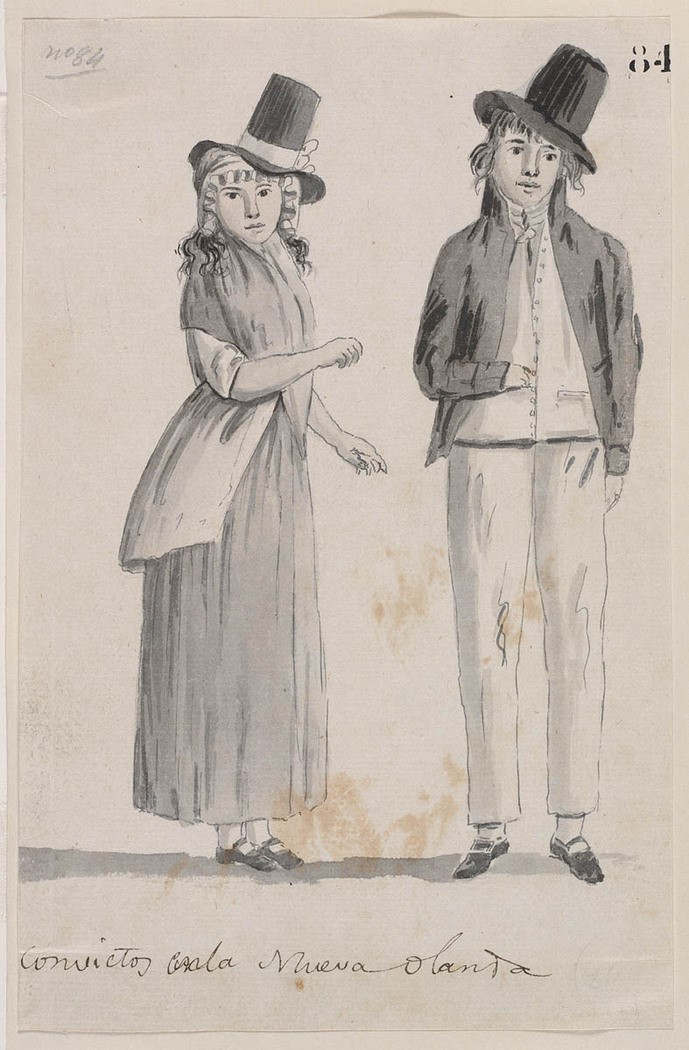 Convicts in New Holland. Source: Mitchell Library, State Library of New South Wales (1)